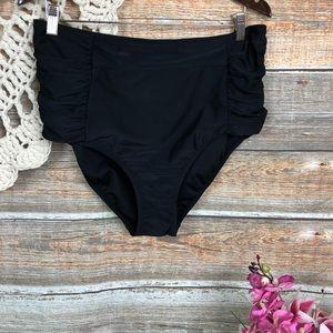 New High Waist Swim Bottoms 16/18 Black